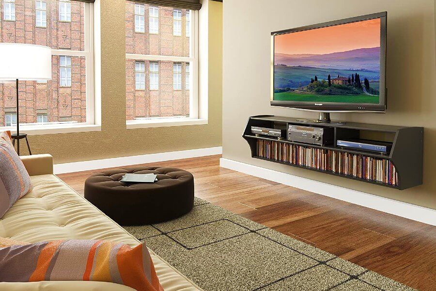 Prepac Altus Wall Mounted Audio\Video Console